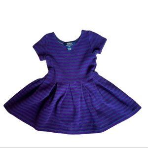 Polo Dress (3T) Purple and Grey